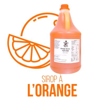 Sirop à l'orange avec pulpes
